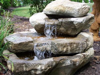 Outdoor Rock Garden - Boulder Water Fountains for Sale