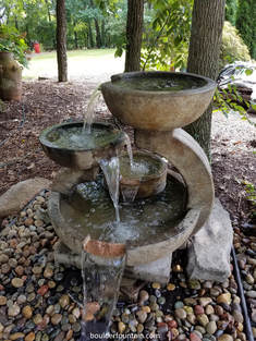 Four Bowl Cascade Fountain. Sleek Modern Style Makes This A Great Choice  For Todayu0027s Modern Garden. Five Copper Spillways Give Plenty Of Water  Action.